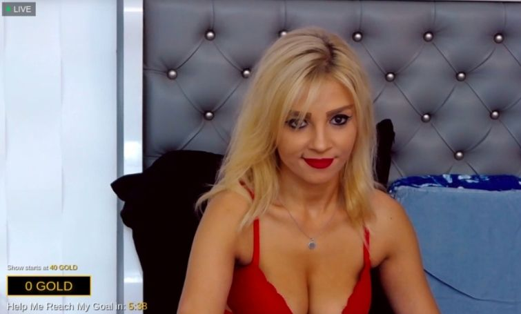 blonde stripper
