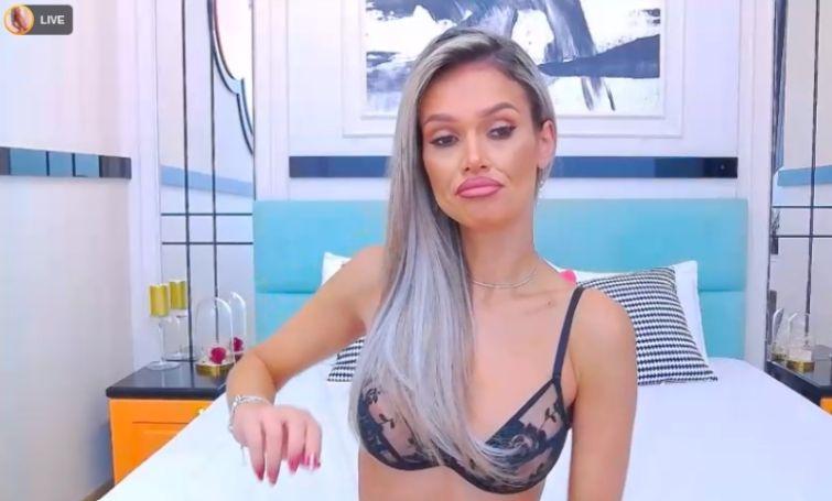 hot blondes stripping