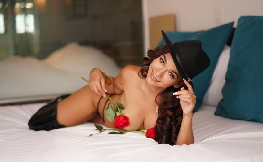 sexy brunette stripper